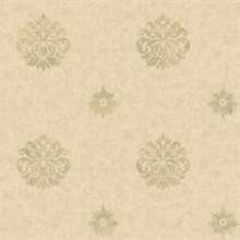 Meadow Yellow Medallion Wallpaper