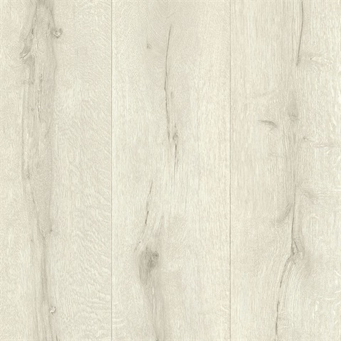 Meadowood Off-white Wide Plank Wallpaper