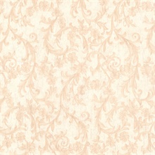Mena Beige Floral Scroll Texture