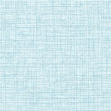 Mendocino Blue Linen Wallpaper