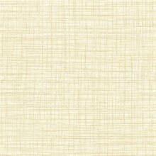 Mendocino Light Yellow Linen Wallpaper