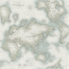 Mercator Aqua World Map