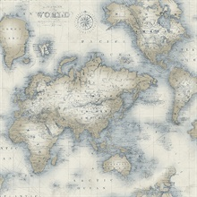 Mercator Cream World Map