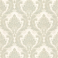 Mercutio Light Green Damask