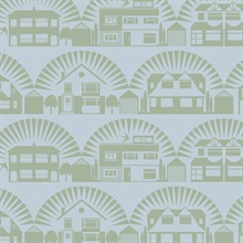 Metroland - British Lichen colourway wallpaper