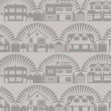 Metroland - Stone colourway wallpaper
