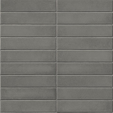 2540 24025 Midcentury Modern Dark Grey Brick Wallpaper