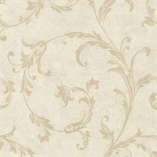 Milton Neutral Shimmer Scroll Wallpaper