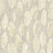 Monolith Light Yellow Abstract Wood Wallpaper