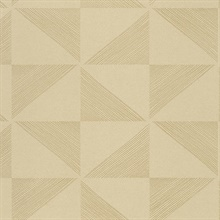 Mont Gold Geometric Wallpaper
