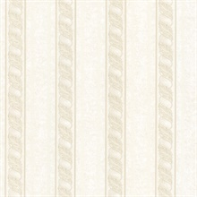 Montague Cream Scroll Stripe