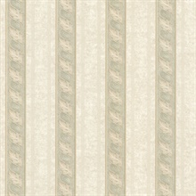 Montague Green Scroll Stripe