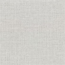 Montgomery Light Grey Faux Grasscloth Vinyl Wallpaper
