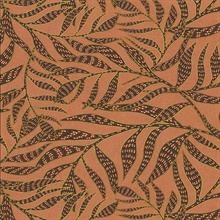 Montrose Coral Leaves Wallpaper