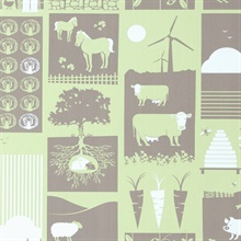 Moo!  - Pear Green colourway wallpaper