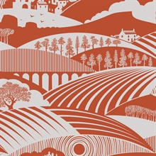 Moordale - Harvest Orange colourway wallpaper
