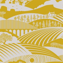 Moordale - Mustard colourway wallpaper