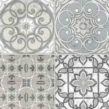 Moroccan Tile Taupe Wallpaper