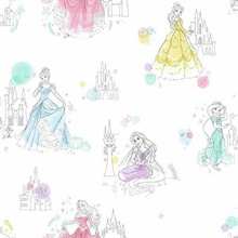 Multcolored Disney Princess Pretty Elegant Wallpaper