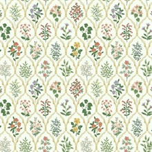 Multicolor Hawthorne Vintage Botanical Arches Rifle Paper Wallpaper
