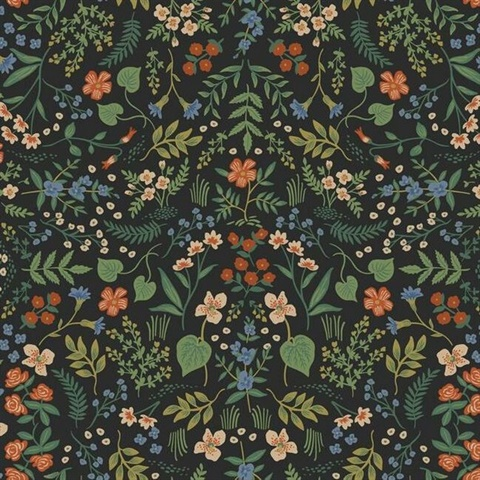 Multicolor Wildwood Floral Wildflowers and Greenery Rifle Paper Wallpa