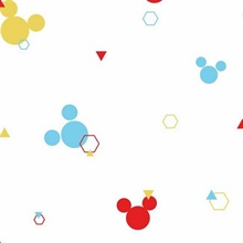 Multicolored Disney Minnie Mouse Dots Wallpaper