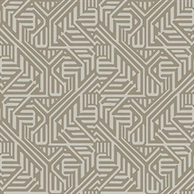 Nambiti Brown Geometric Wallpaper