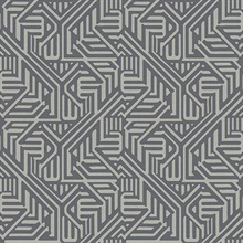 Nambiti Charcoal Geometric Wallpaper