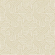 Nambiti Cream Geometric Wallpaper