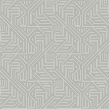 Nambiti Grey Geometric Wallpaper