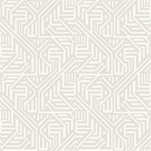 Nambiti Light Grey Geometric Wallpaper