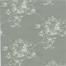 Napa Valley Silver Grape Toile