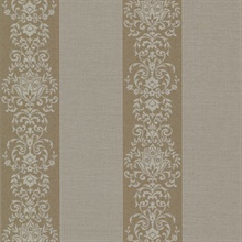 Nash Stripe Brass Embellished Stripe Wallpaper