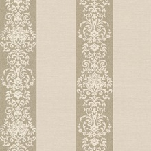 Nash Stripe Champagne Embellished Stripe Wallpaper