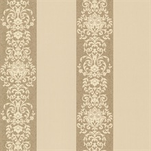 Nash Stripe Gold Embellished Stripe Wallpaper