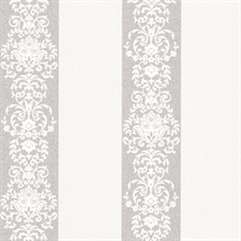 Nash Stripe Platinum Embellished Stripe Wallpaper