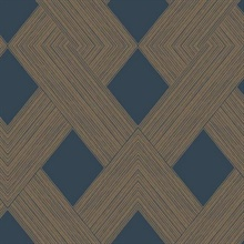 Navy Beveled Edge Geometric Wallpaper