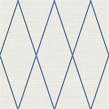 Navy Blue & Taupe Geometric Diamond Textured Linen Background Wallpape