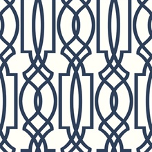 Navy Deco Lattice
