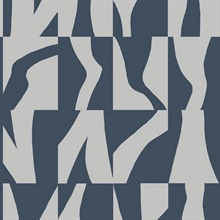 Navy Sketchbook Geometric Wallpaper
