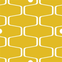 Net & Ball - Mustard colourway wallpaper