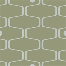 Net & Ball - Olive colourway wallpaper