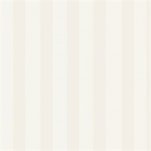 Neutral and White Matte Shiny Stripe Prepasted Wallpaper
