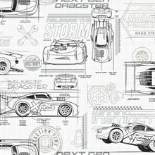 Neutral Disney and Pixar Cars Schematic Wallpaper
