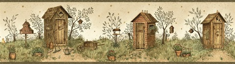 Neutral Garden Outhouses Border