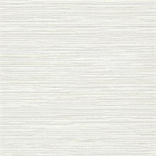 Neutral Ramie Faux Weave Horizontal Textured Wallpaper