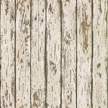 Neutral Weathered Wood Wallpaper
