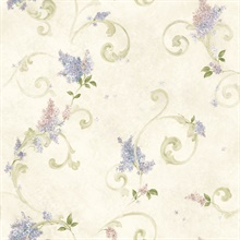 Neutrals Lilac Acanthus Wallpaper