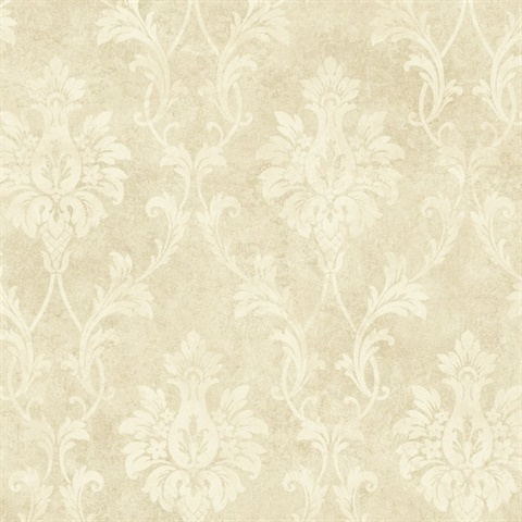 Neutrals Pineapple Damask