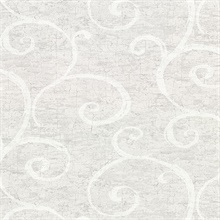 Newbury Light Grey Geometric Faux Plaster Vinyl Wallpaper